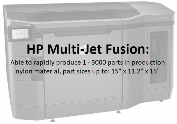 3D Printing - HP Multi-Jet Fusion - High detail, smooth surface finish, low volume production speed, production quality Nylon material. 3d printed parts 3d printed materials,
