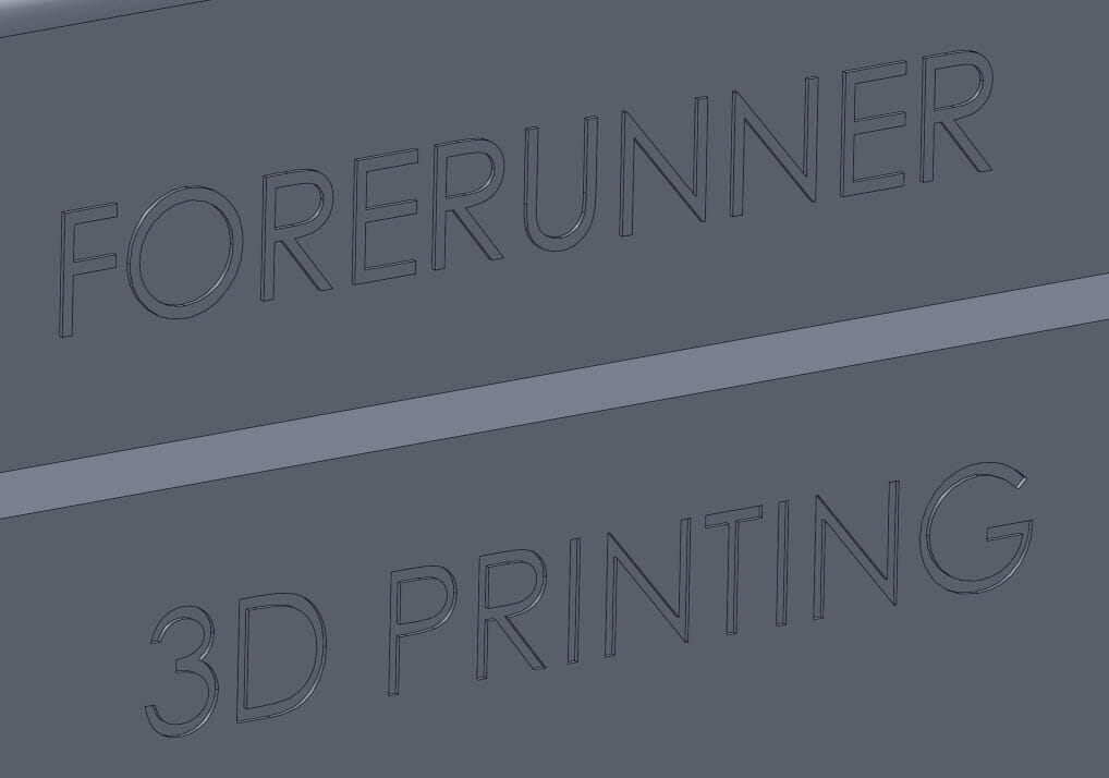 3D Printing - SLA - text design guide
