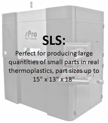 3D Printing - SLS - Allows highly complex geometry, durable impact resistant parts, low volume production speed. 3d printed parts 3d printed materials,
