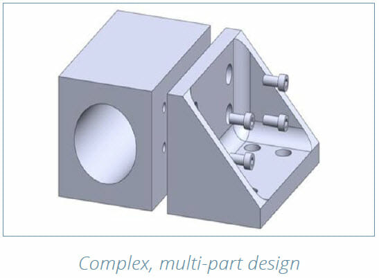 DMLS 3D Printing Design Guide - Complex, multi part design