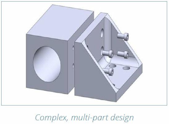 DMLS 3D Printing Design Guide - Complex, multi part design