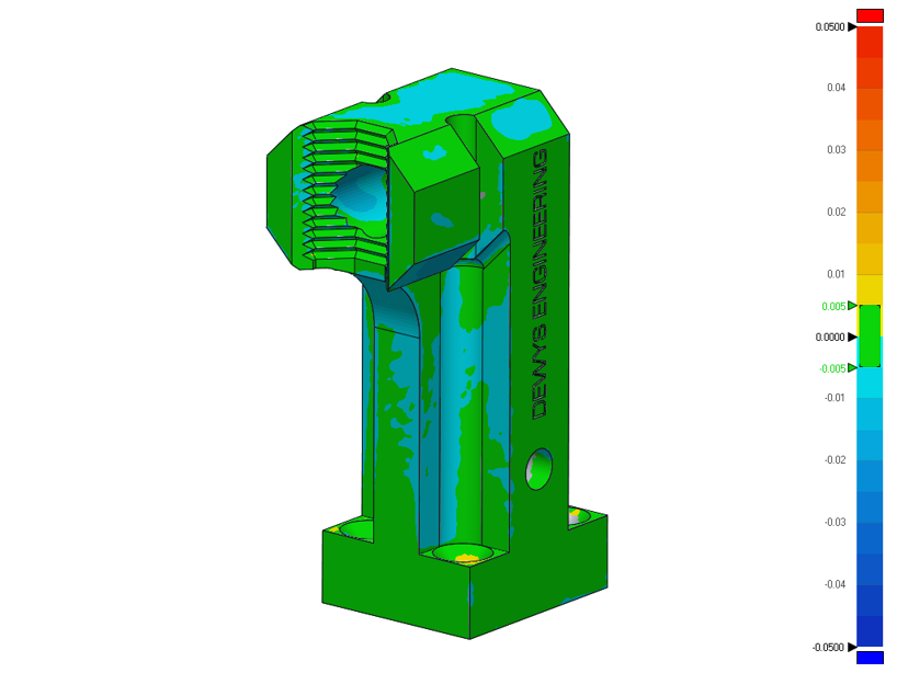 3D Printed part accuracy - Replacement Part for industrial equipment inspection report