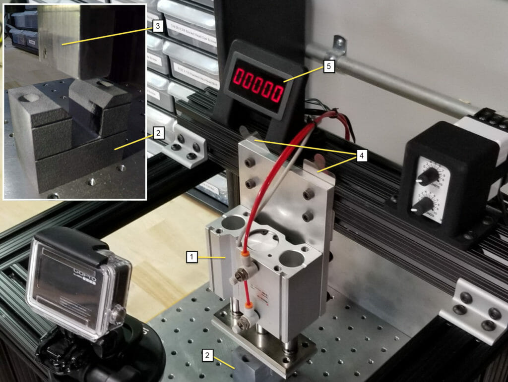 HP MJF Part Wear / MJF Part Strength - Test rig explanation picture